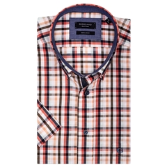 New 2019 Giordano Short Sleeve Shirt - Tan Check