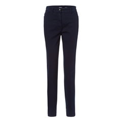 Olsen Long Casual Trousers Navy Blue