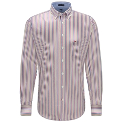 Fynch Hatton Premium Cotton Shirt - Multi Stripe