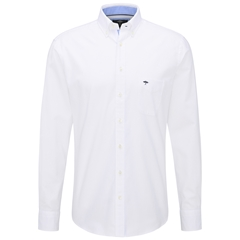 Fynch Hatton Compact Cotton Shirt - White
