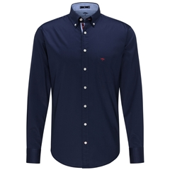 Fynch Hatton Premium Cotton Shirt - Navy