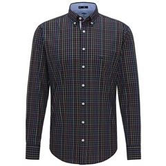 Fynch Hatton Premium Cotton Shirt - Navy Check
