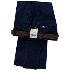Meyer Cotton Trouser - Navy - New York 5572 18