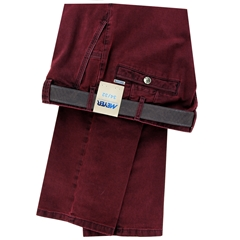 Meyer Cotton Trouser - Claret - New York 5572 57