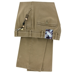 New Autumn Meyer Cotton & Wool Luxury Trouser - Fawn - Roma 8557 32 - Online Exclusive