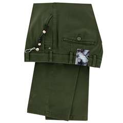 Meyer Cotton & Wool Luxury Trouser - Moss Green - Roma 8557 24 - Online Exclusive