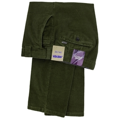 Meyer Corduroy Trouser - Green - Roma 3701 26 - Online Exclusive