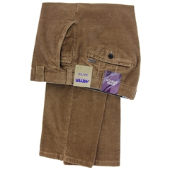 Meyer Corduroy Trouser - Mid Brown - Roma 3701 43 - Online Exclusive