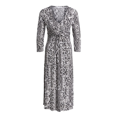 Oui Slinky Snakeskin Dress - Black/White