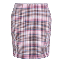 Oui Check Skirt - Pink