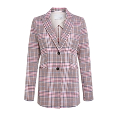 Oui Checked Blazer - Pink