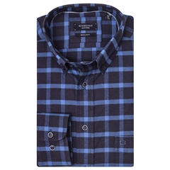 Giordano Shirt - Navy Sky Check - Regular Fit