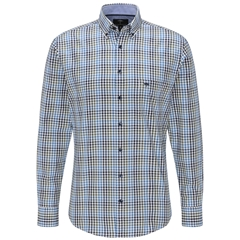Fynch Hatton Supersoft Twill Shirt - Clover Blue Check