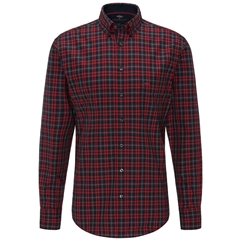 Fynch Hatton Premium Oxford Cotton Shirt - Red Big Check