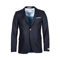Giordano Jacket - Navy With Spots