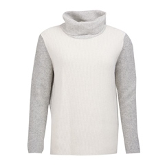 Barbour Dipton Roll Neck Sweater - Cloud/Grey