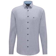 Fynch Hatton Supersoft Cotton Shirt - Navy Check