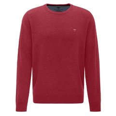 Fynch Hatton Wool & Cashmere Crew Neck - Scarlet