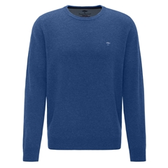 Fynch Hatton Wool & Cashmere Crew Neck - Ultramarine
