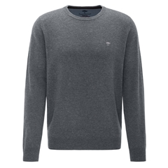 Fynch Hatton Wool & Cashmere Crew Neck - Ashgrey