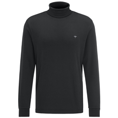 Fynch Hatton Cotton Polo Neck - Black