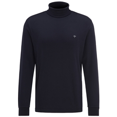 Fynch Hatton Cotton Polo Neck - Navy