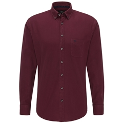 Fynch Hatton Soft Garment Dyed Cotton Shirt - Indian Red