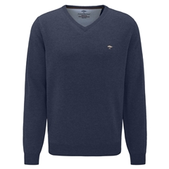 Fynch Hatton Wool & Cashmere Vee Neck - Night