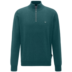 Fynch Hatton Wool & Cashmere Zip Neck - Aquarius