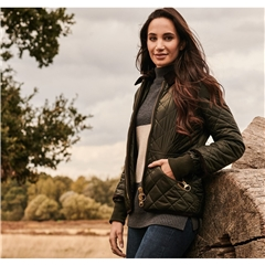 Barbour Women's 125 Years Icons Liddesdale Quilted Jacket - Sage