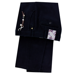 Meyer Cotton & Wool Luxury Trouser - Navy - Roma 8557 19 - Online Exclusive