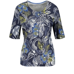 Gerry Weber Patterned Top - Navy