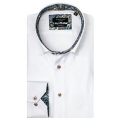 Giordano Shirt - White Twill