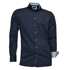 Giordano Shirt - Navy Neat Flower