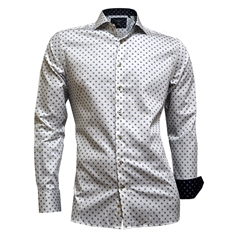 Giordano Shirt - White Neat Flower