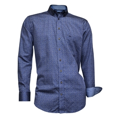 Giordano Shirt - Blue Printed Flowers - Regular Fit