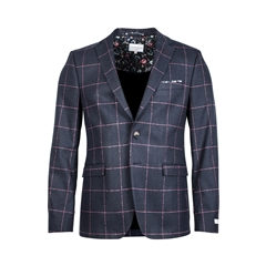 Giordano Jacket - Navy Red Overcheck