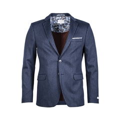 Giordano Jacket - Navy & Blue Stripe