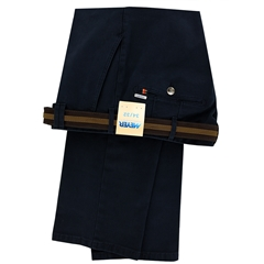 Meyer Cotton Twill Trouser - Navy - Rio 3512 19 - Online Exclusive