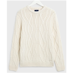 Gant Seasonal Cable Crew - Cream