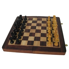 Folding Chess Board with Pieces (12'')