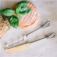 Polished Knot Traditional Cheese & Soft Cheese Knife Set