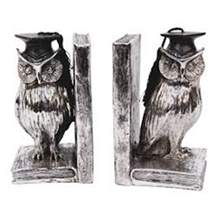 Owl Doctorate Bookends