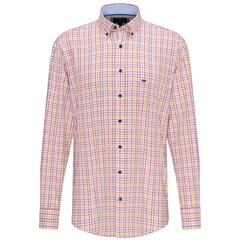 Fynch Hatton Supersoft Cotton Shirt - Sun Softberry