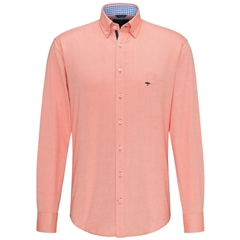 Fynch Hatton Supersoft Oxford Cotton Shirt - Mandarin