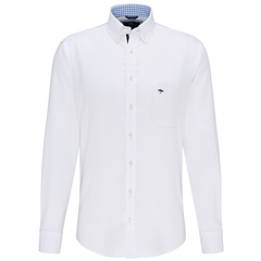Fynch Hatton Supersoft Oxford Cotton Shirt - White