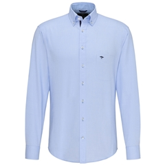 Fynch Hatton Supersoft Oxford Cotton Shirt - Blue