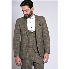 Marc Darcy Enzo 3 Piece Men's Suit - Tan