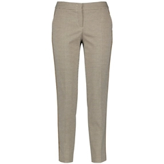 Gerry Weber Houndstooth Pattern Trousers - Beige/Navy