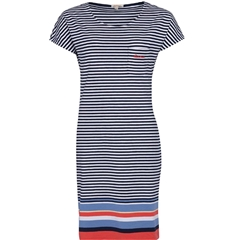 New 2020 Barbour Harewood  Stripe Dress - Navy